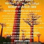 "Présentation du Festival Africain ""FESTIV'AFRICA"" le sept juillet 2012"
