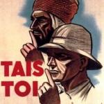"""Algérie: vieille affiche de l'époque coloniale """"Tais Toi"""""""