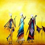 Art Afrique: très belle peinture du Burkina Faso