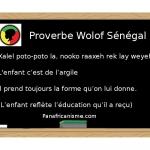 Afrique: un proverbe du Sénégal (Wolof) sur l'éducation des enfants