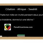 Citation Afrique Swahili: L'art de recevoir
