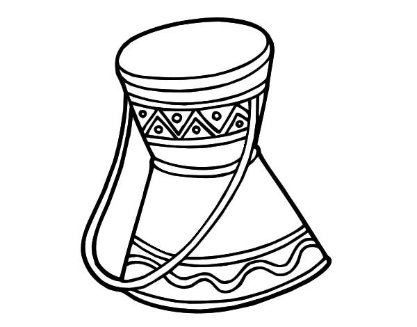 Coloriage tambour d afrique imprimer pour les enfants - Coloriage d afrique ...